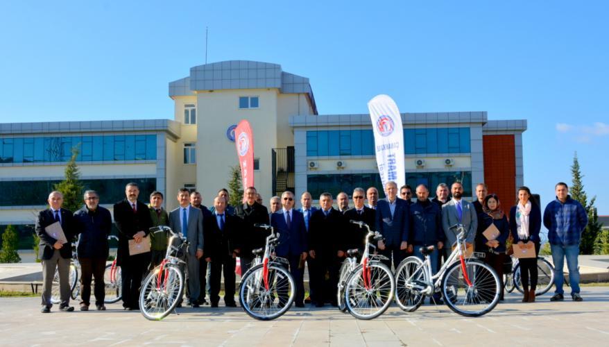 ÇOMÜ'de Bisikletli Yaşam Başladı