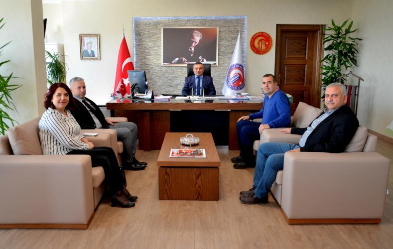 ÇTSO Yönetim Kurulundan Rektör Prof. Dr. Yücel Acer'e Ziyaret