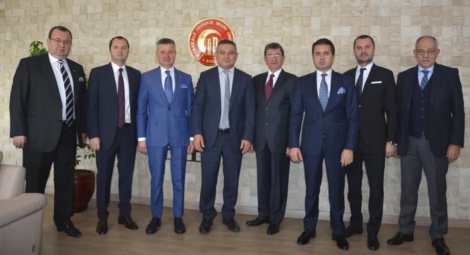 Doğanlar Holding Yönetim Kurulundan Rektör Prof. Dr. Yücel Acer'e Ziyaret