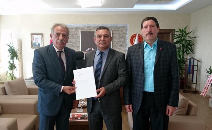 Esnaf ve Kefalet Kooperatifi Birliği Başkanı'ndan Rektör Prof. Dr. Yücel Acer'e Ziyaret