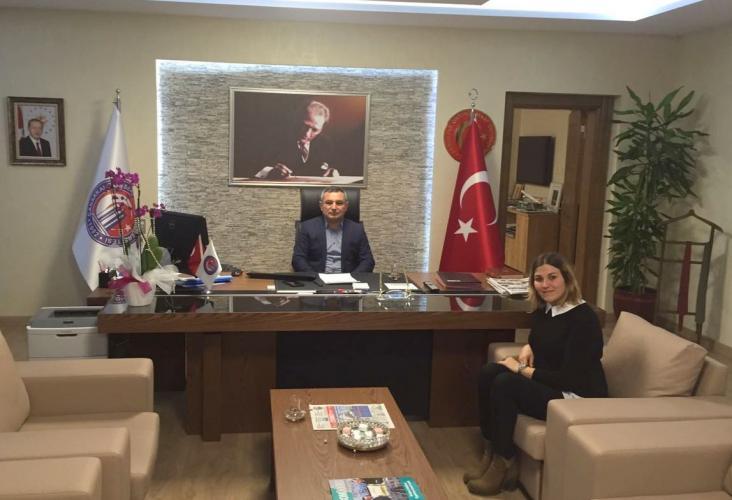 Öz İş Sendikası Çanakkale İl Başkanı'ndan Rektör Prof. Dr. Yücel Acer'e Ziyaret