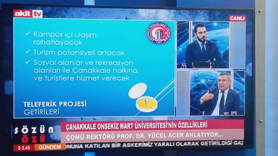 Rektör Prof. Dr. Yücel Acer, Akit TV'nin Konuğu Oldu
