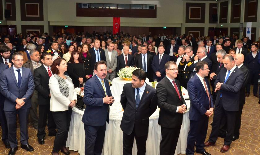 Rektör Prof. Dr. Yücel Acer, Cumhuriyetin 93.Yılı Resepsiyonu'na Katıldı