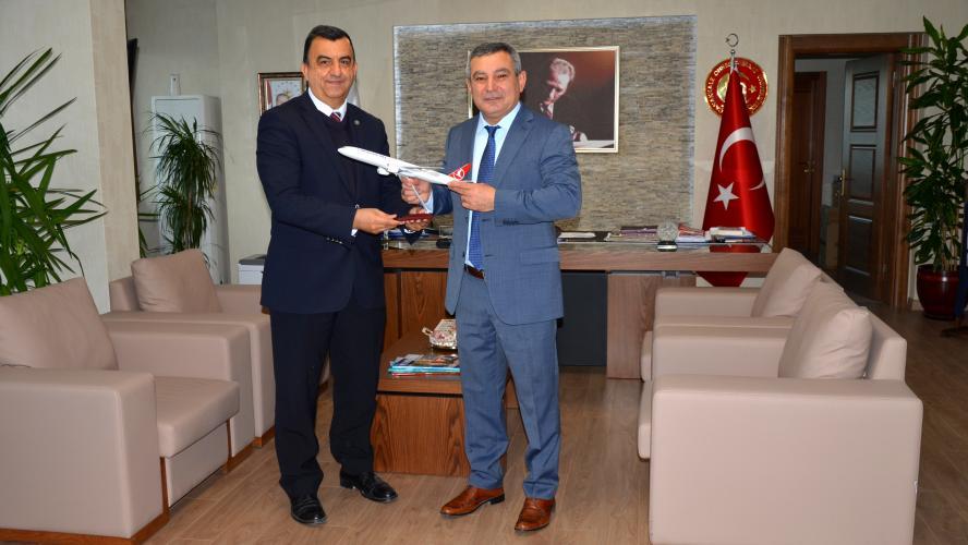THY Trafik Şefi Selim Samur'dan Rektör Acer'e Ziyaret