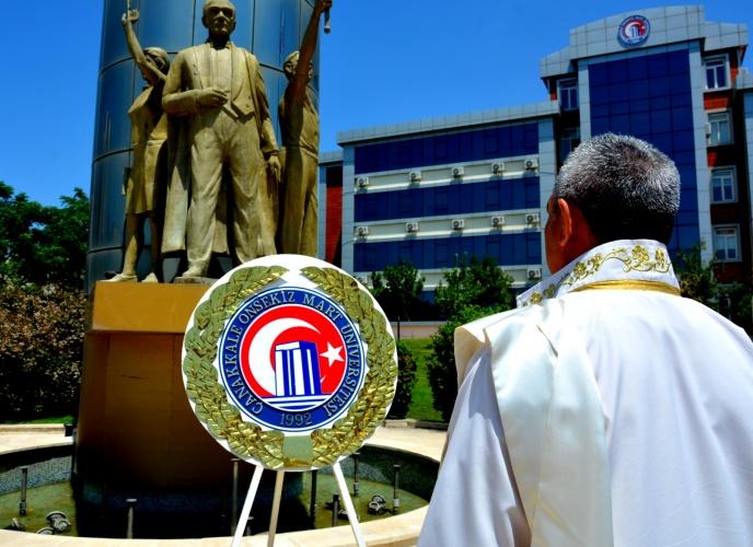 15 Temmuz Anısına Bilim Anıtı'na Çelenk Koyma Töreni Gerçekleştirildi