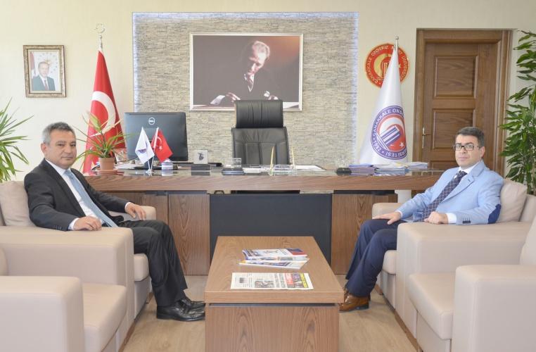Adalet Komisyonu Başkanından, Rektör Prof. Dr. Yücel Acer'e Veda Ziyareti