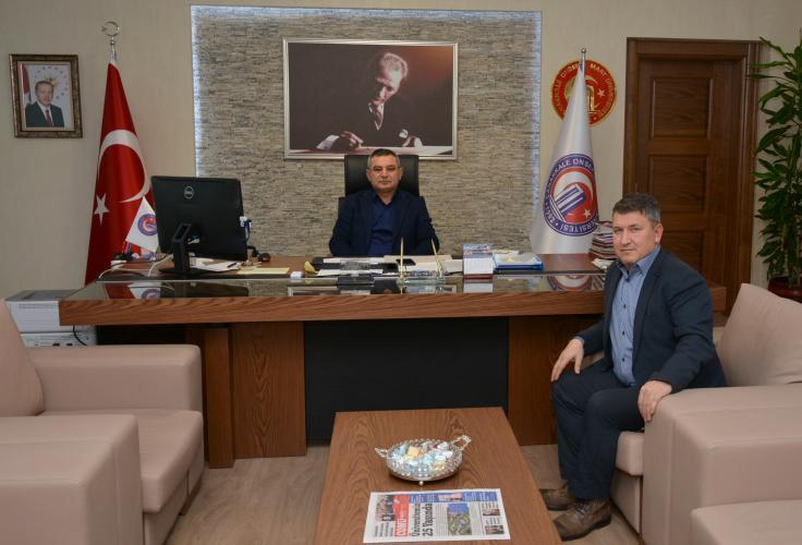 AK Parti Küçükkuyu Belde Başkanı Çalışkan'dan Rektör Acer'e Ziyaret