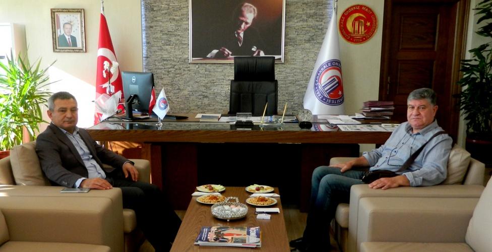Ayvacık Belediye Başkanı Şahin'den Rektör Prof. Dr. Yücel Acer'e Ziyaret