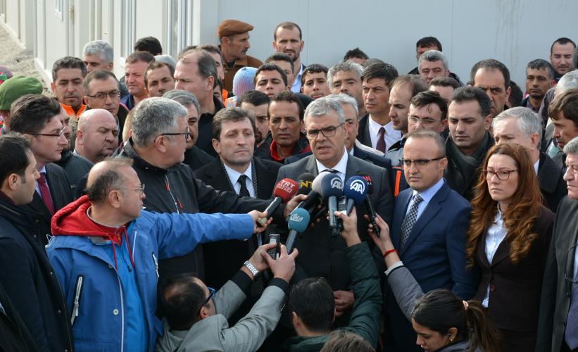 Başbakan Yardımcısı Kaynak, Depremden Zarar Gören Yukarıköy'de İncelemelerde Bulundu