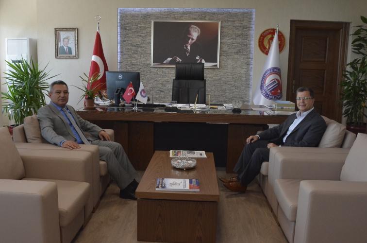 Başsavcı Hikmet Turan'dan Rektör Prof. Dr. Yücel Acer'e Veda Ziyareti