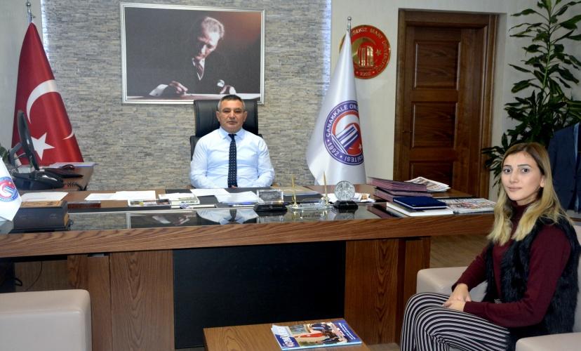 BESYO Öğrencisi Büşra Yalçın'dan Rektör Acer'e Ziyaret