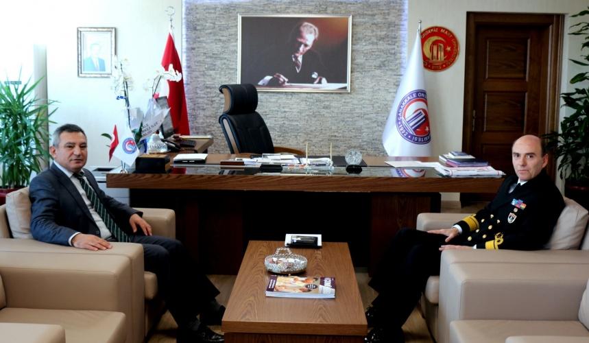 Boğaz ve Garnizon Komutanı Algül'den Rektör Acer'e Ziyaret