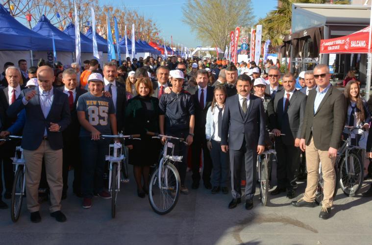 Çanakkale Bisiklet Turu İçin Açılış Töreni Gerçekleştirildi