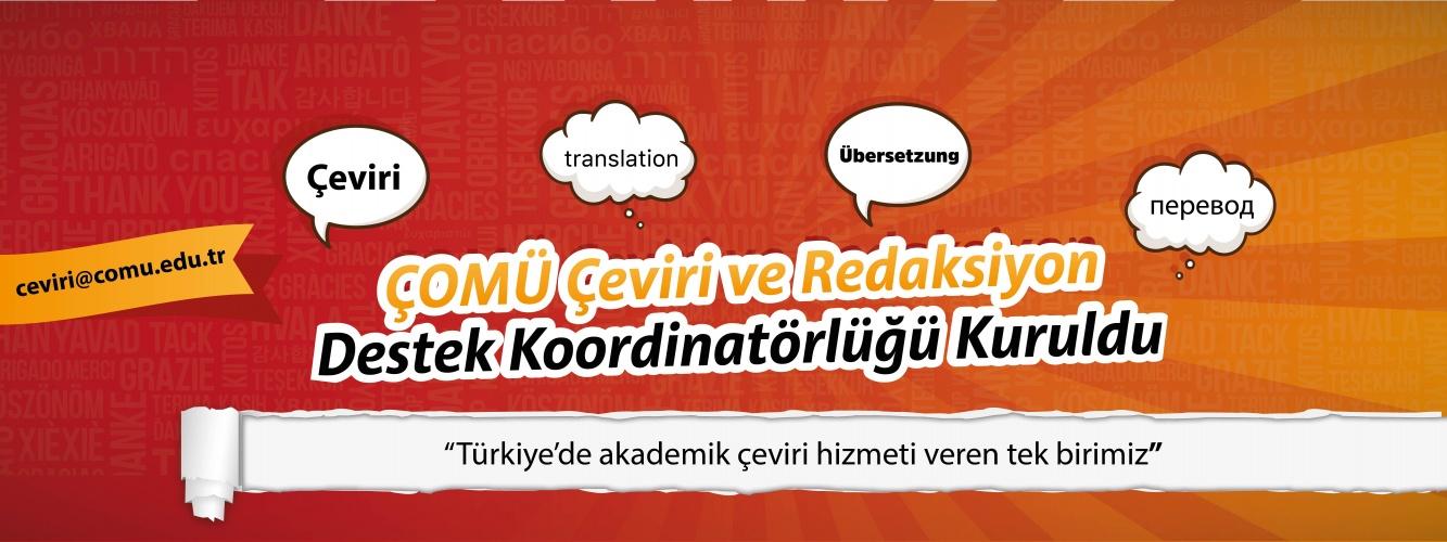 ÇOMÜ Çeviri ve Redaksiyon Destek Koordinatörlüğü Kuruldu