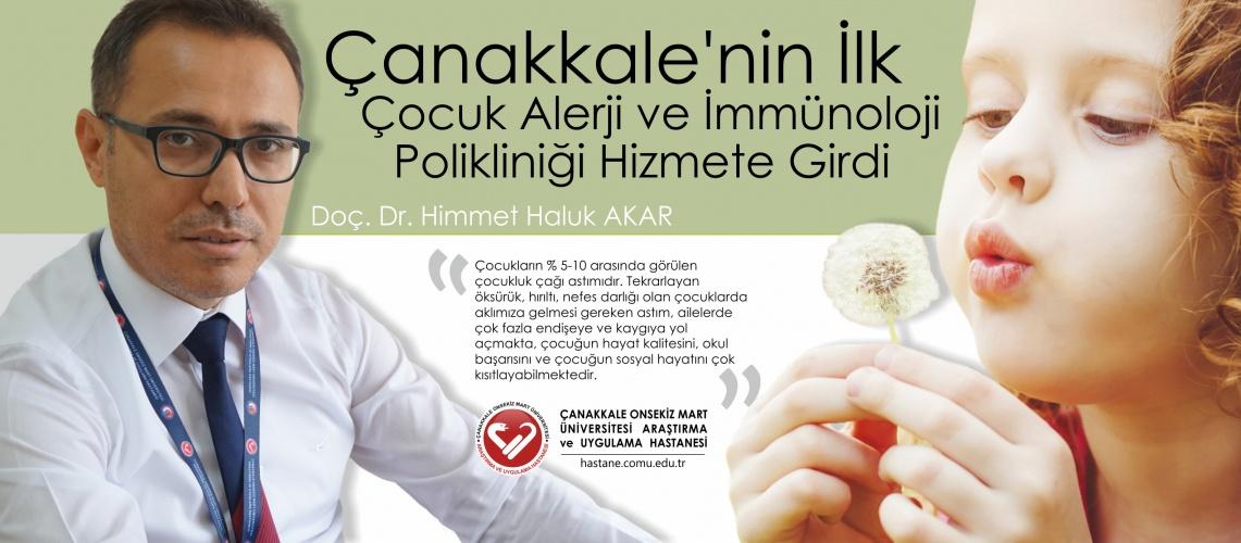 ÇOMÜ'de Çocuk Alerji Hastalıkları Polikliniği Hizmete Girdi