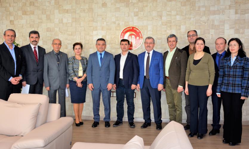 ESBAV Yöneticilerinden Rektör Prof. Dr. Yücel Acer'e Ziyaret