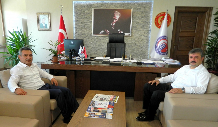 Gençlik Hizmetleri ve Spor İl Müdürü Nüammer Uslu'dan Rektör Acer'e Veda Ziyareti