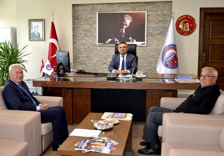 Lapseki Belediye Başkanı Yılmaz'dan Rektör Acer'e Ziyaret