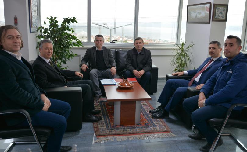 Mamuşa Atatürk Lisesi Müdürü Mazrek, Rektör Yardımcısı Erdem'i Ziyaret Etti