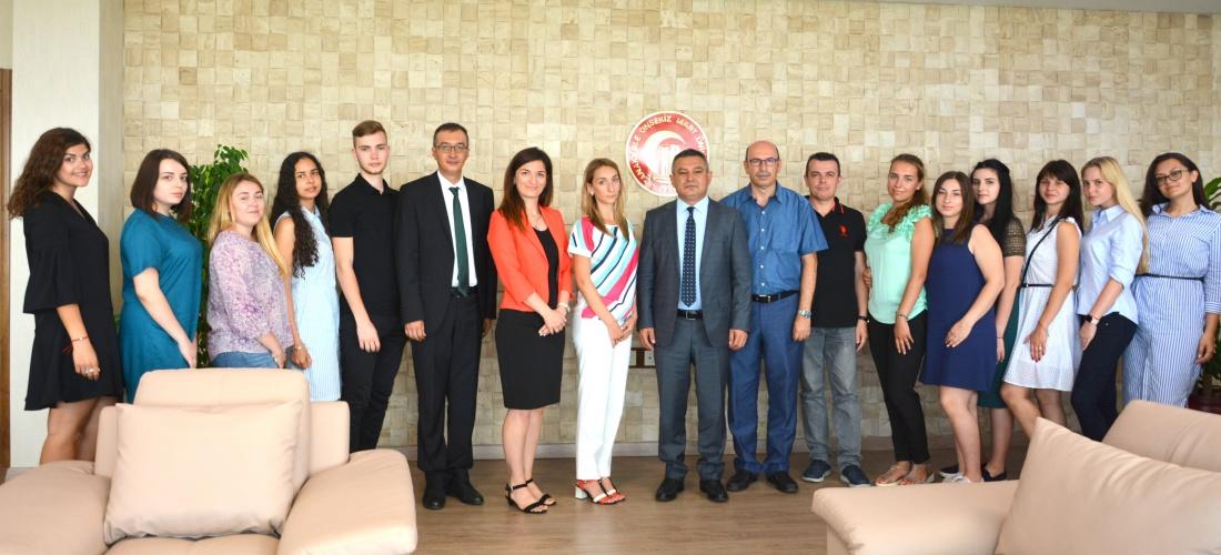Mechnikov National Universitesi'nden  ÇOMÜ'ye Ziyaret
