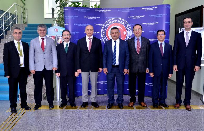Müsteşar Yardımcısı İlhan Hatipoğlu ve Beraberindeki Heyetten Rektör Acer'e Ziyaret