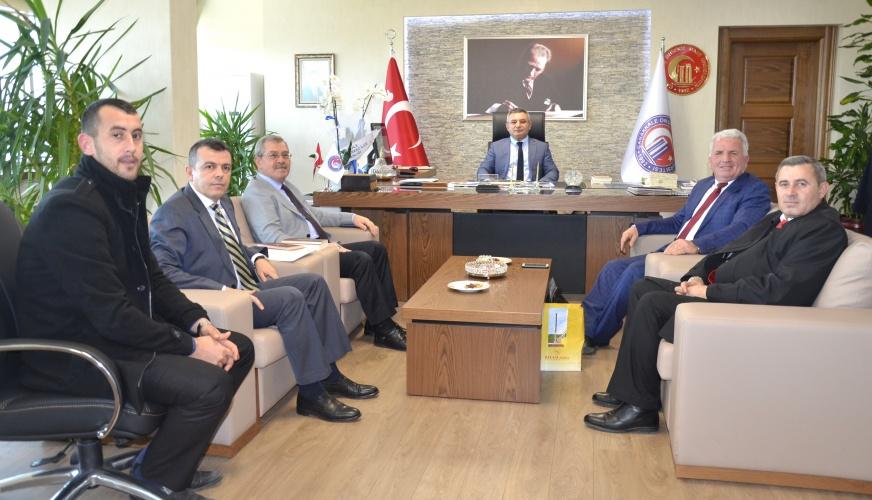 Prof. Dr. İrfan Morina'dan Rektör Prof. Dr. Yücel Acer'e Ziyaret