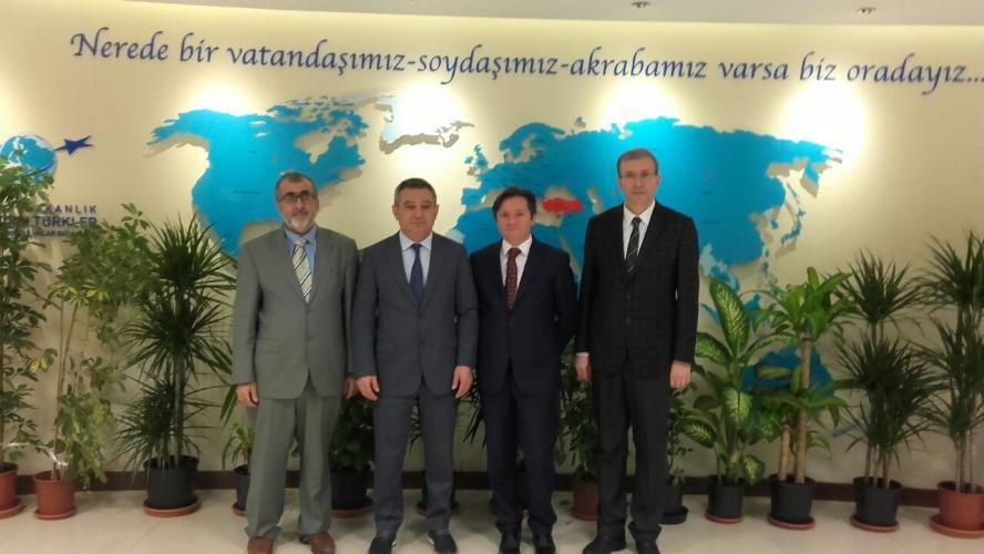 Rektör Prof. Dr. Yücel Acer'den, YTB Başkanı Mehmet Köse'ye Hayırlı Olsun Ziyareti