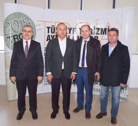 Rektör Yardımcısı Prof. Dr. Mirza Tokpunar, Bakan Çavuşoğlu'nun Toplantısına Katıldı