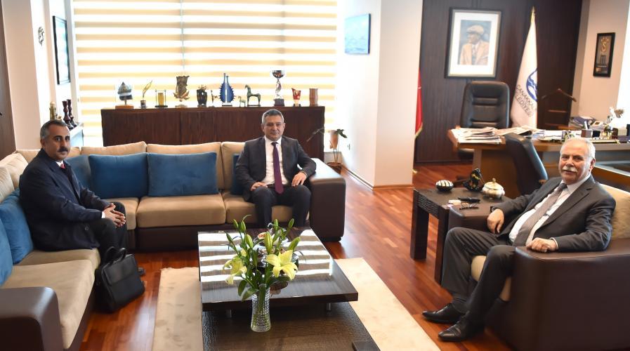 Rektör Acer'den Belediye Başkanı Gökhan'a Ziyaret