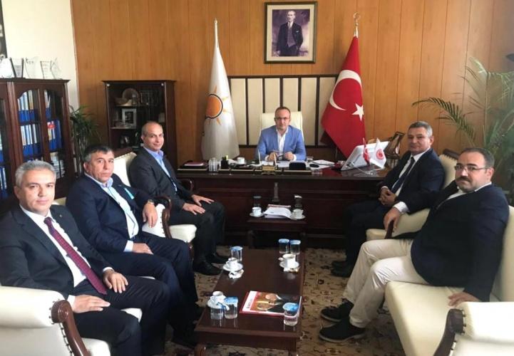 Rektör Acer ve Beraberindeki MYO Müdürleri, AK Parti Grup Başkan Vekili Av. Bülent Turan'ı Ziyaret Etti