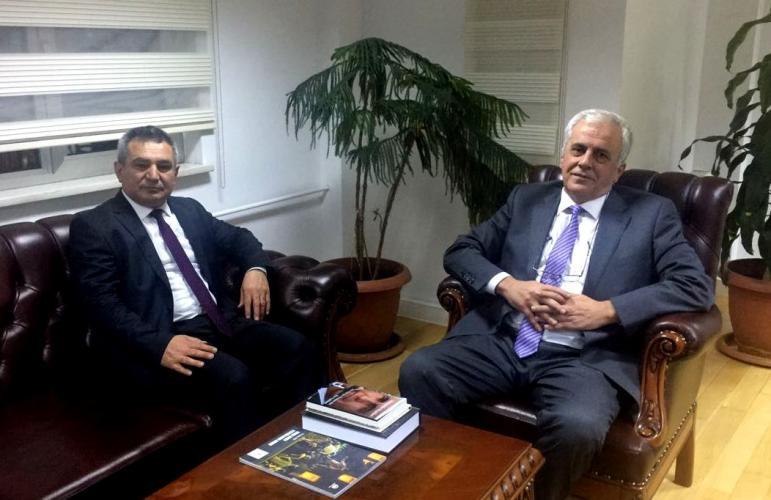 Rektör Prof. Dr. Yücel Acer, TÜBA Başkanı Prof. Dr. Ahmet Cevat Acar'ı Makamında Ziyaret Etti