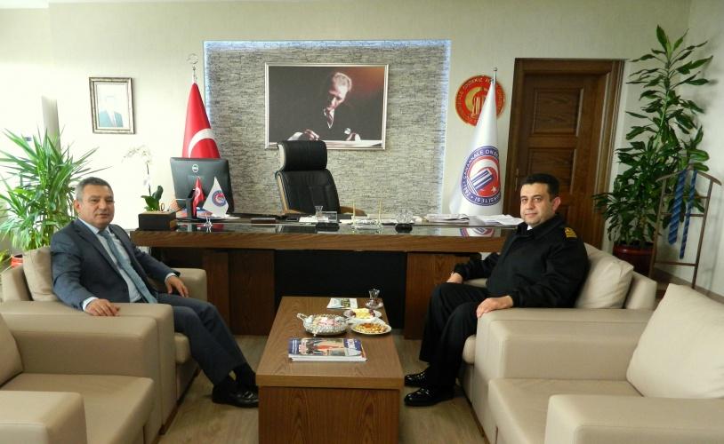 Sahil Güvenlik Grup Komutanı'ndan, Rektör Prof. Dr. Yücel Acer'e Ziyaret
