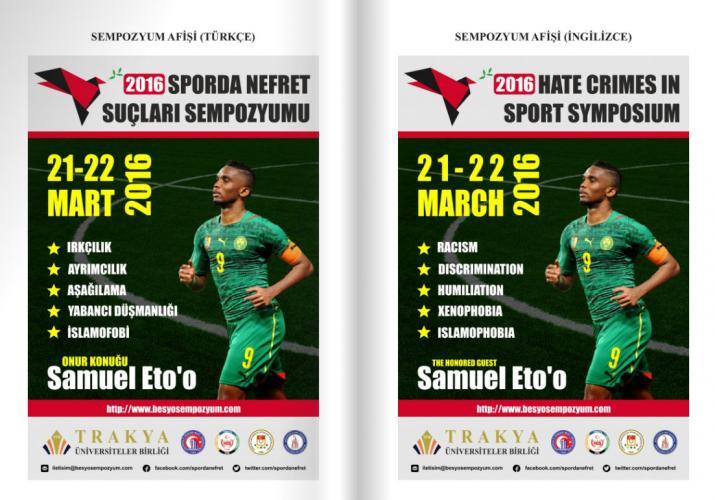 TÜB 3. Uluslararası Sporda Nefret Suçları Sempozyumu Bildiri Kitapçığı Yayınlandı