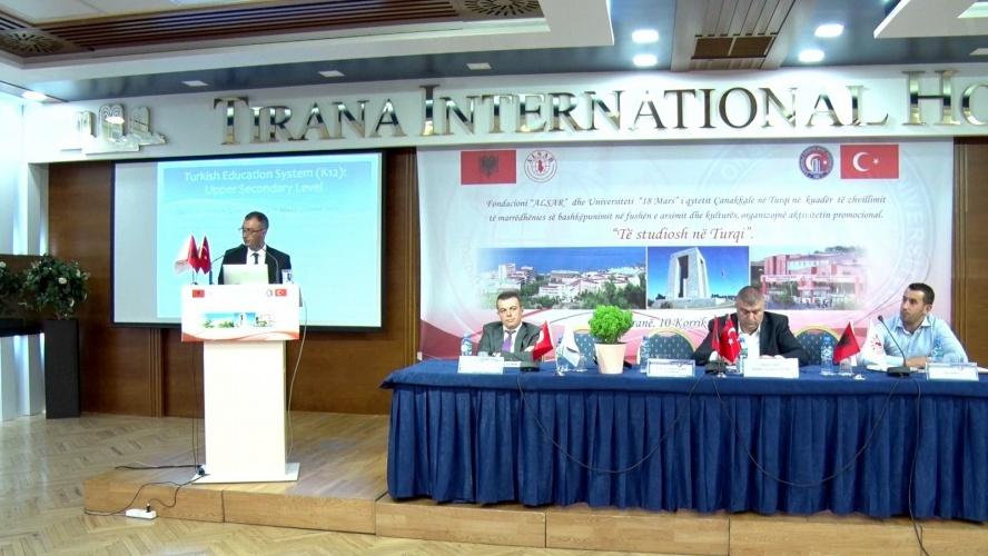 Üniversitemiz ve Türk Eğitim Sistemi Tiran'da Tanıtıldı