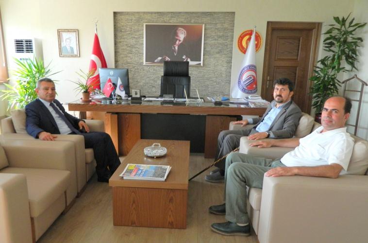 Yıldırım Beyazıt Üniversitesi Rektör Yardımcısından Rektör Prof. Dr. Yücel Acer'e Ziyaret