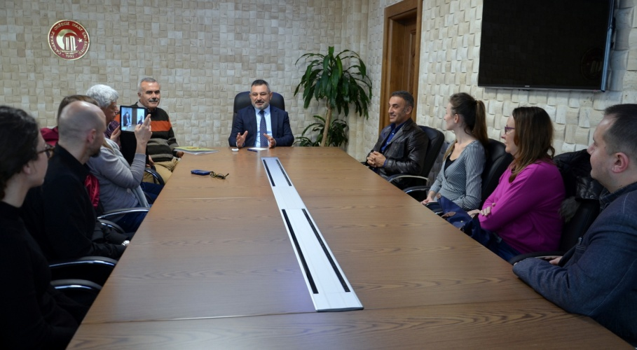 AB Proje Toplantısı Kapsamında Ülkeler ÇOMÜ'de Buluştu