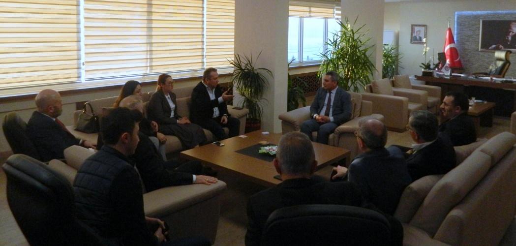 AK Parti Ekonomi İşleri Başkan Yardımcısından Rektör Prof. Dr. Yücel Acer'e Ziyaret