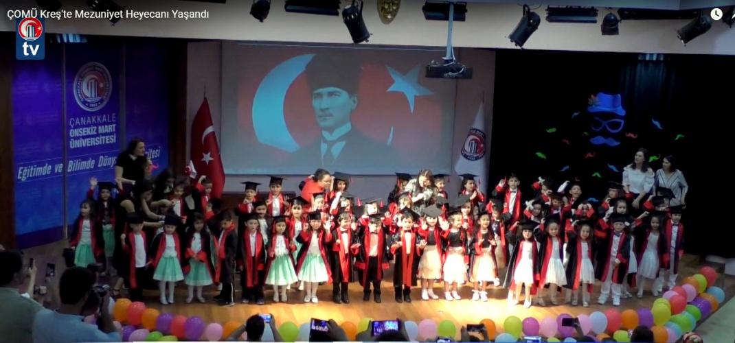 ÇOMÜ Kreş'in Mezuniyet Töreni Gerçekleştirildi