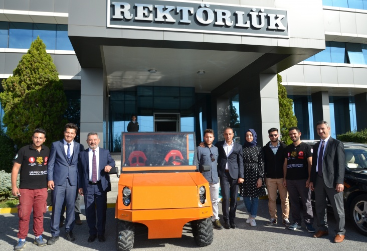 ÇOMÜ Renewable Energy and Robot Community Produced Electric Car