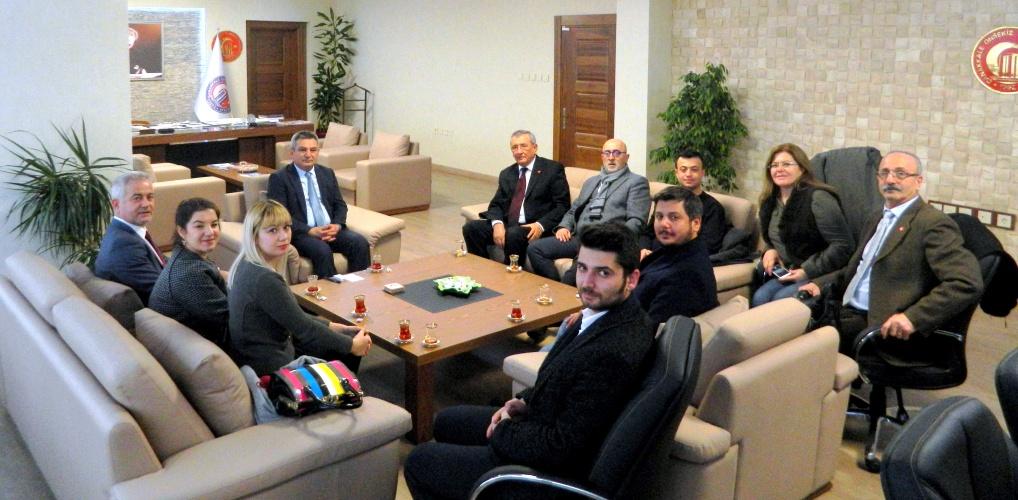 Cumhuriyet Halk Partisi İl Yönetiminden Rektör Acer'e Ziyaret