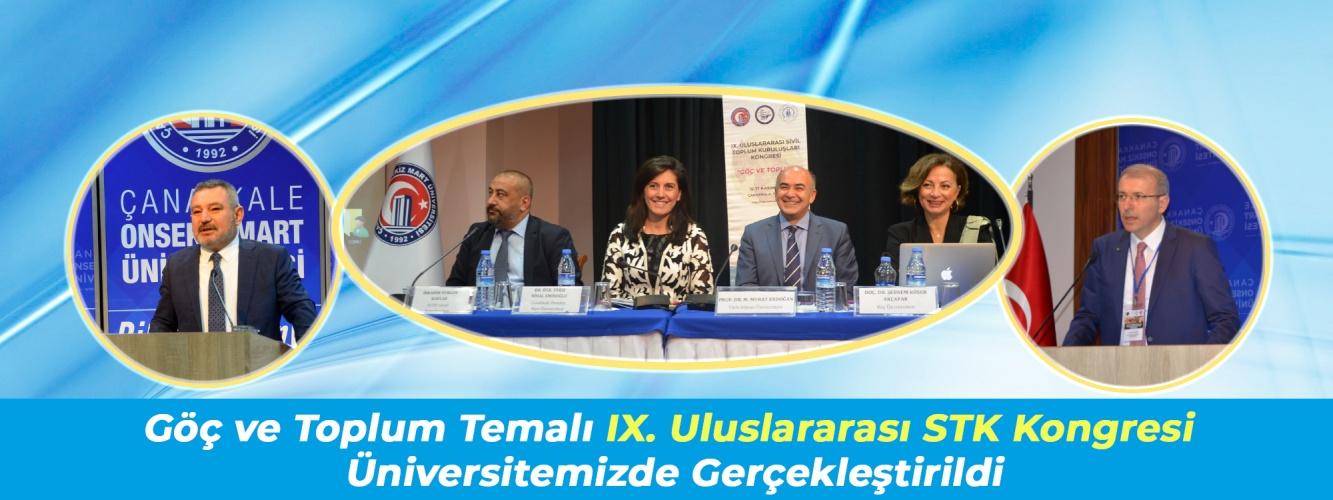 Göç ve Toplum Temalı IX. Uluslararası Sivil Toplum Kuruluşları Kongresi Üniversitemizde Gerçekleştirildi
