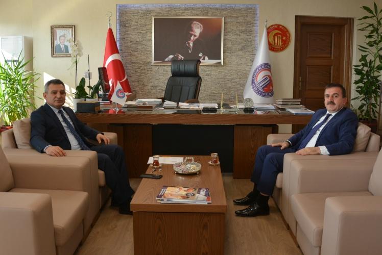 İl Milli Eğitim Müdürü Osman Özkan, Rektör Prof. Dr. Yücel Acer'i Ziyaret Etti