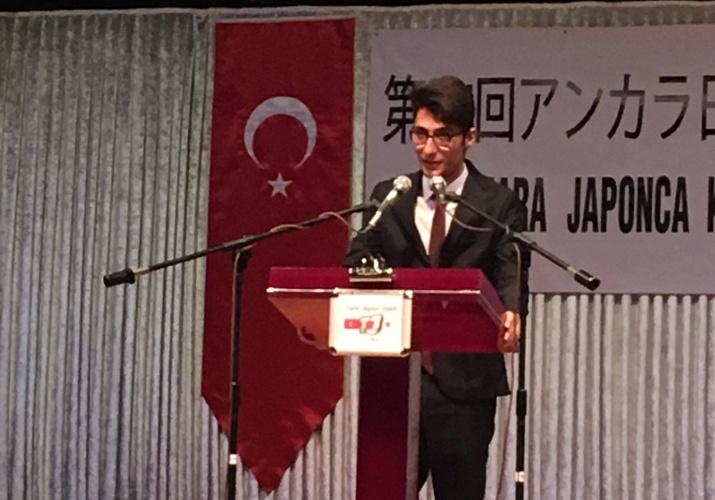 Öğrencimiz Berkay Doğan, 27. Japonca Konuşma Yarışması'nda Birinci Oldu
