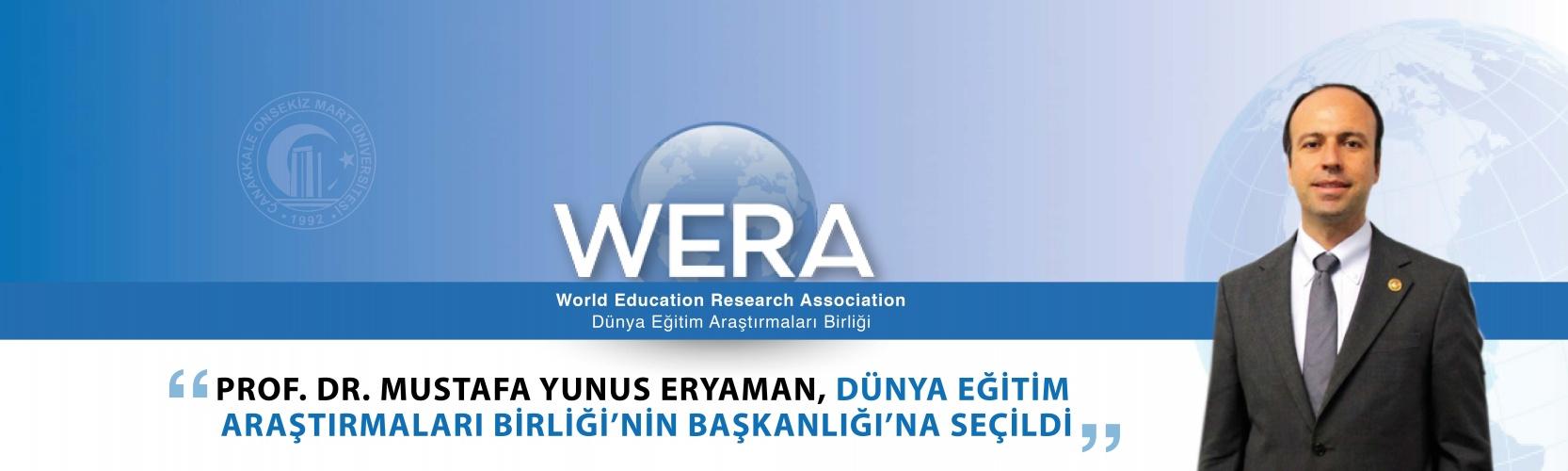 Prof. Dr. Mustafa Yunus Eryaman, Dünya Eğitim Araştırmaları Birliği'nin Başkanlığı'na Seçildi