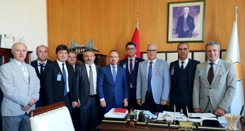 Rektör Prof. Dr. Acer, AK Parti Grup Başkan Vekili Av. Bülent Turan'ı Ziyaret Etti