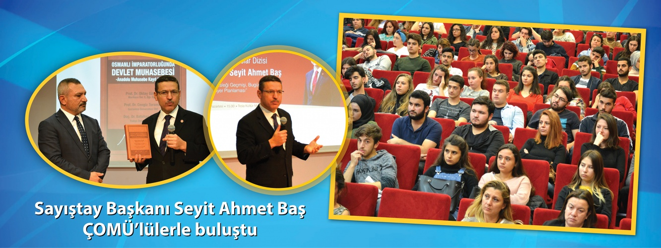 President of Turkish Court of Accounts Seyit Ahmet Bas Met COMU Students