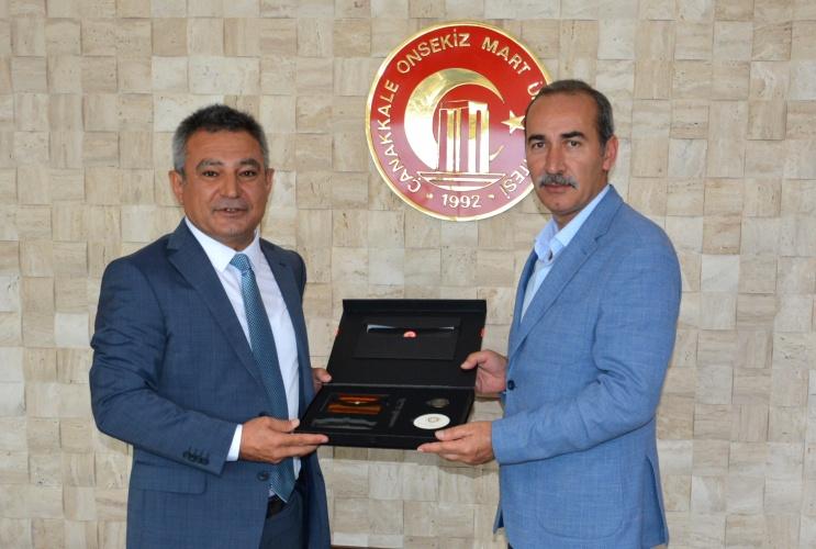 Sivas Cumhuriyet Üniversitesi Rektörü Yıldız'dan Rektör Acer'e Ziyaret