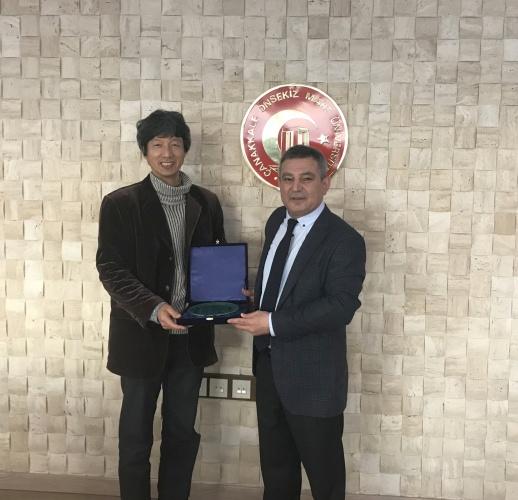 Sunchon National Üniversitesi Öğretim Üyesi Jun'dan Rektör Prof. Dr. Yücel Acer'e Ziyaret