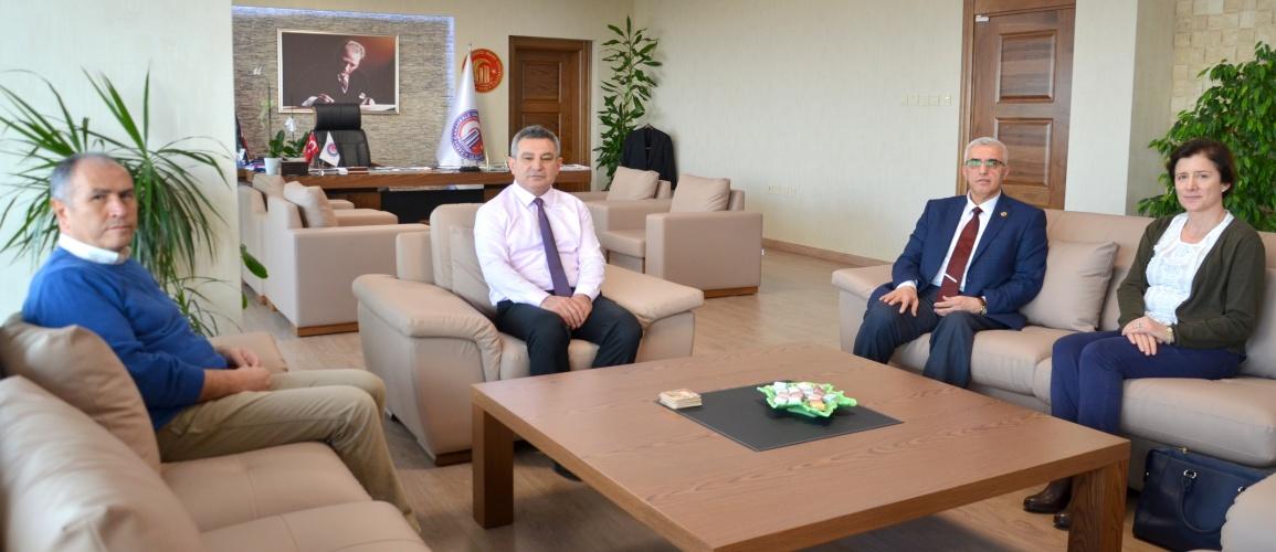 TRT Eğitim Dairesi Başkanlığından Rektör Prof. Dr. Yücel Acer'e Ziyaret