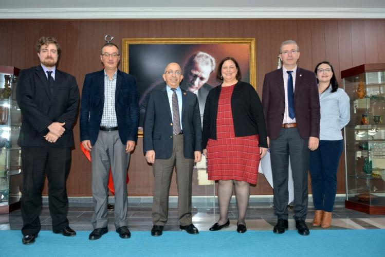 Amerika Birleşik Devletleri İstanbul Başkansolosu'ndan ÇOMÜ Rektörü Prof. Dr. Sedat Murat'a Ziyaret